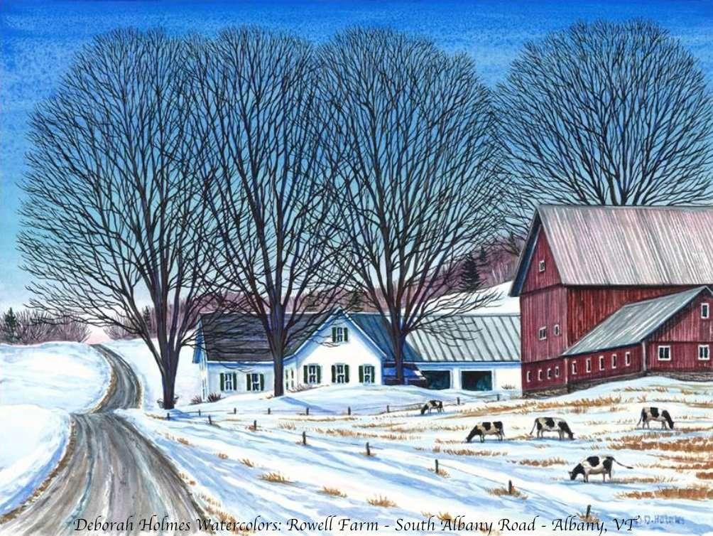 Albany, VT Rowell Farm - Deborah Holmes watercolor