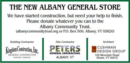 New-Albany-General-Store-Renovations-Sign-Albany-VT